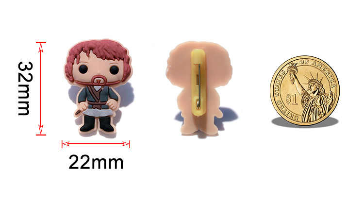 1 Pcs PVC Ikon Kartun Avengers Infinity War Bros Pin Lencana Tokoh Anime Pin Lencana Ransel Pakaian Topi Dekorasi