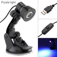 3W USB UV Purple Light Table Lamp Flexible Eye Protection Desk Suction Cup Lamp Bedroom Living Room Lamp for Study Reading Work metal marble led table lamp living room bedroom reading lamp desk lamp e27 holder eye protection light lustre night luminaria