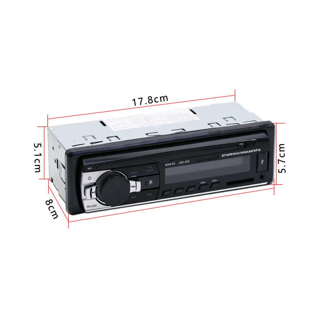Podofo 1DIN インダッシュカーラジオステレオリモコンデジタル Bluetooth オーディオ音楽ステレオ 12 12v 車ラジオ Mp3 プレーヤー USB/SD/AUX-IN
