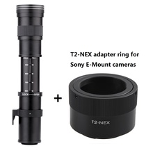 Buy Lightdow 420-800mm F8.3-F16 Super Manual Telephoto  Zoom Lens +T2-NEX Adapter Ring for Sony E-Mount Camera NEX-5R/5N/5C,A7 A7R