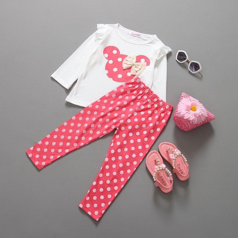 f6901020eda4b new fashion girls clothing sets minnie children clothes bow tops t shirt  leggings pants baby kids suits 2 pcs suit retail
