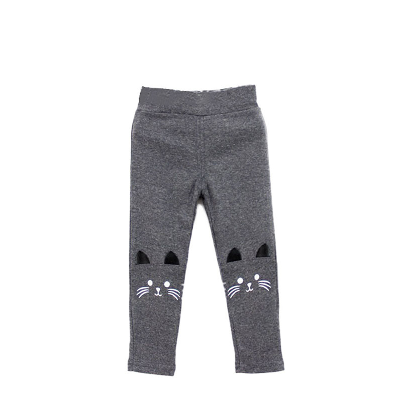 Toddler Baby Girls Kids Skinny Pants Cute Cat Print Stretchy Warm Leggings Hot Selling цена 2017