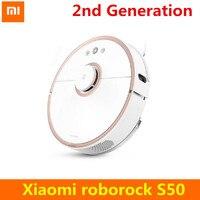 2nd Generation Xiaomi Roborock S50 Robot Vacuum Cleaner WIFI APP Control Wet Drag Mop Smart Planned