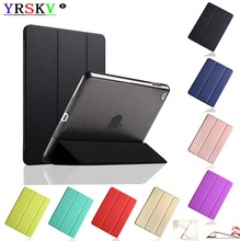 Купить с кэшбэком Case for Apple iPad 9.7 inch 2018,2017,YRSKV,YiPPee Color PC Back, Ultra Slim With PU Leather Case Wake up sleep,Smart Cover.