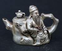 Antique bronze antique brass ornaments of silver copper kettle pot pot teapot stump creative decoration