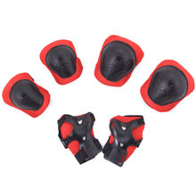 6pcs/lot for 5-16 years Kids knee protection sets Elbow pads Bicycle skateboard ice skating roller protector snowboard protect