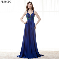 Charming Royal Blue Empire Pregnant Women Prom Party Dresses Boho 2017 V Neck Beaded Sexy Cutout