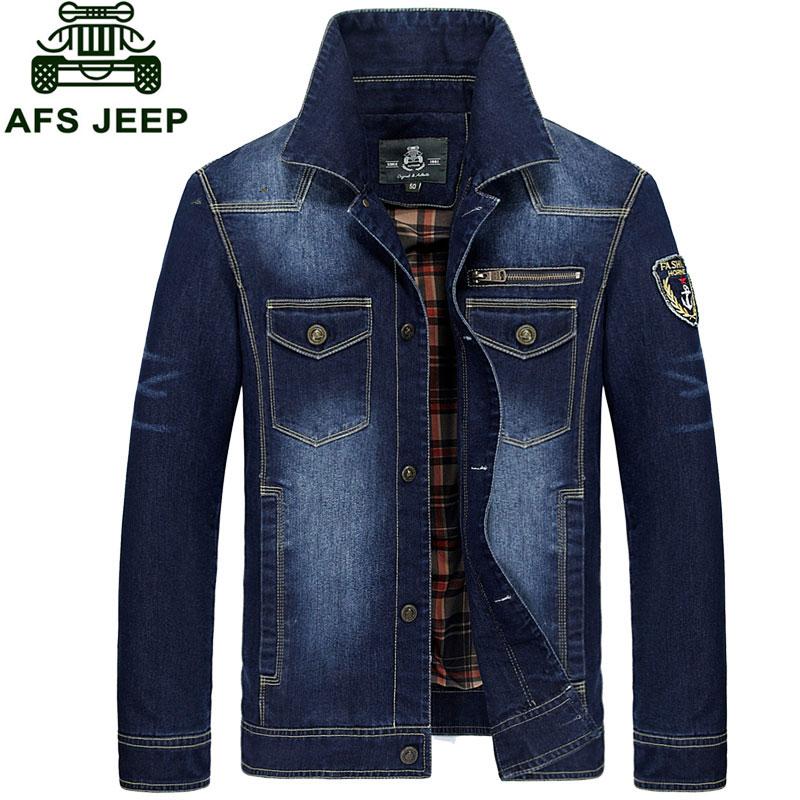 M 3XL New Fashion Retro Denim Jackets font b Mens b font font b Jeans b