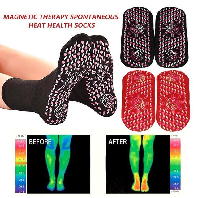 Chaussette de physiothérapie auto chauffante, thérapie magnétique Tourmaline, massage des pieds, massage, chaud, soins, santé, arthrite, unisexe