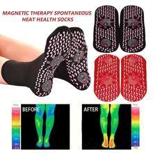 Kendinden isıtma fizyoterapi çorap turmalin manyetik terapi ayak masajı sıcak tutan çoraplar Unisex sağlıklı bakım artrit ayak masajı