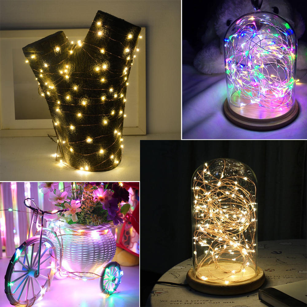 Diy fairy led lighting strings flexible copper wire battery powered diy fairy led lighting strings flexible copper wire battery powered led lamp 2m5m strip light for wedding christmas decor in lighting strings from lights greentooth Images