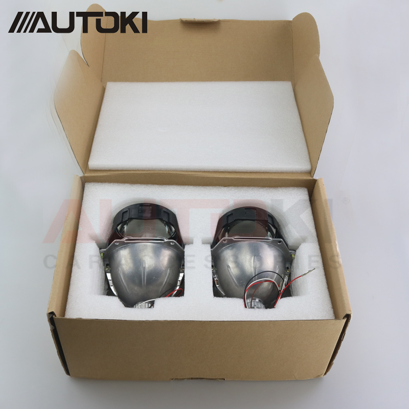 Autoki Car Styling Universal AUTO Bi-LED Projecteur Lentille Avec Puce 3.0 pouces Faisceau Haut et Bas Phare Rénovation pour H4 H7 H11 - 6