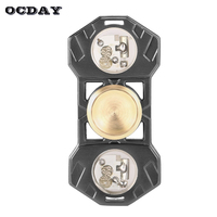 OCDAY Fidget Spinner LED Lighting Hand Spinner Metal EDC Gyro For Autism And ADHD Anti Stress