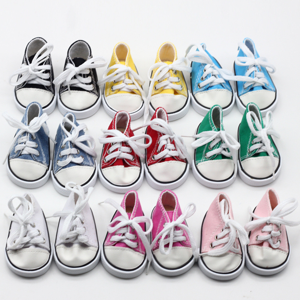 Canvas Sneakers Shoes for AG Dolls American Doll 18 Inch Doll Sneakers