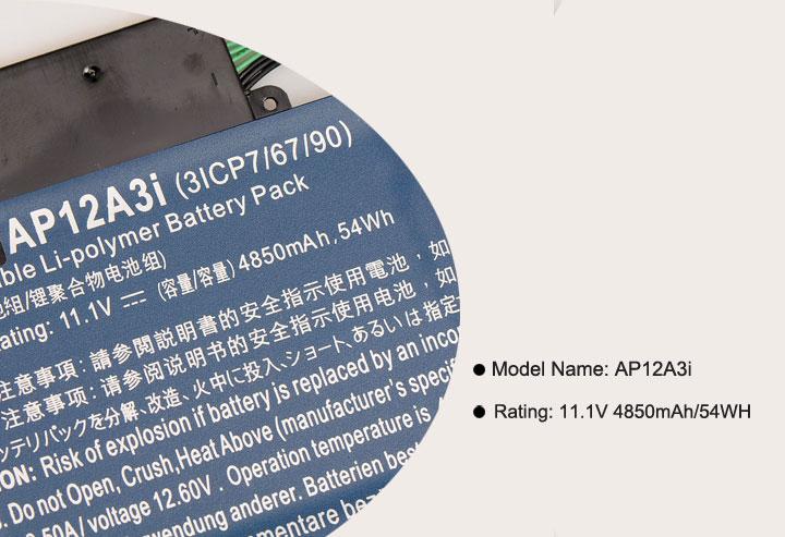 11.1 V 4850 mAh KingSener Nouvelle Batterie AP12A3i Pour Acer Iconia W700 Aspire Timeline Ultra U M3-581TG M5-481TG AP12A3i AP12A4i 54WH - 4