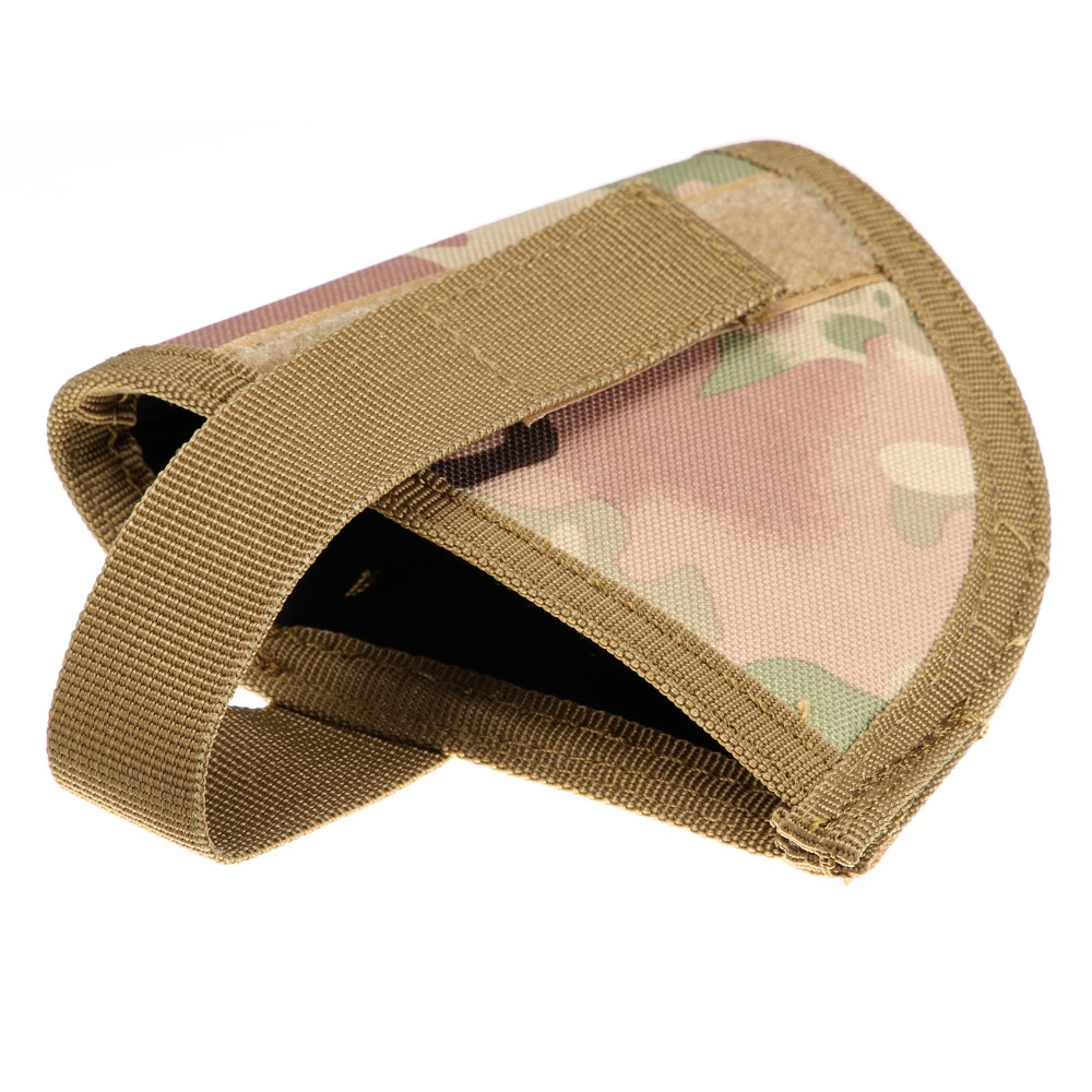 Tactical Velcro Hook Pistol CP Camo Holster Right Hand Hook Loop Gun Holster Adjustable