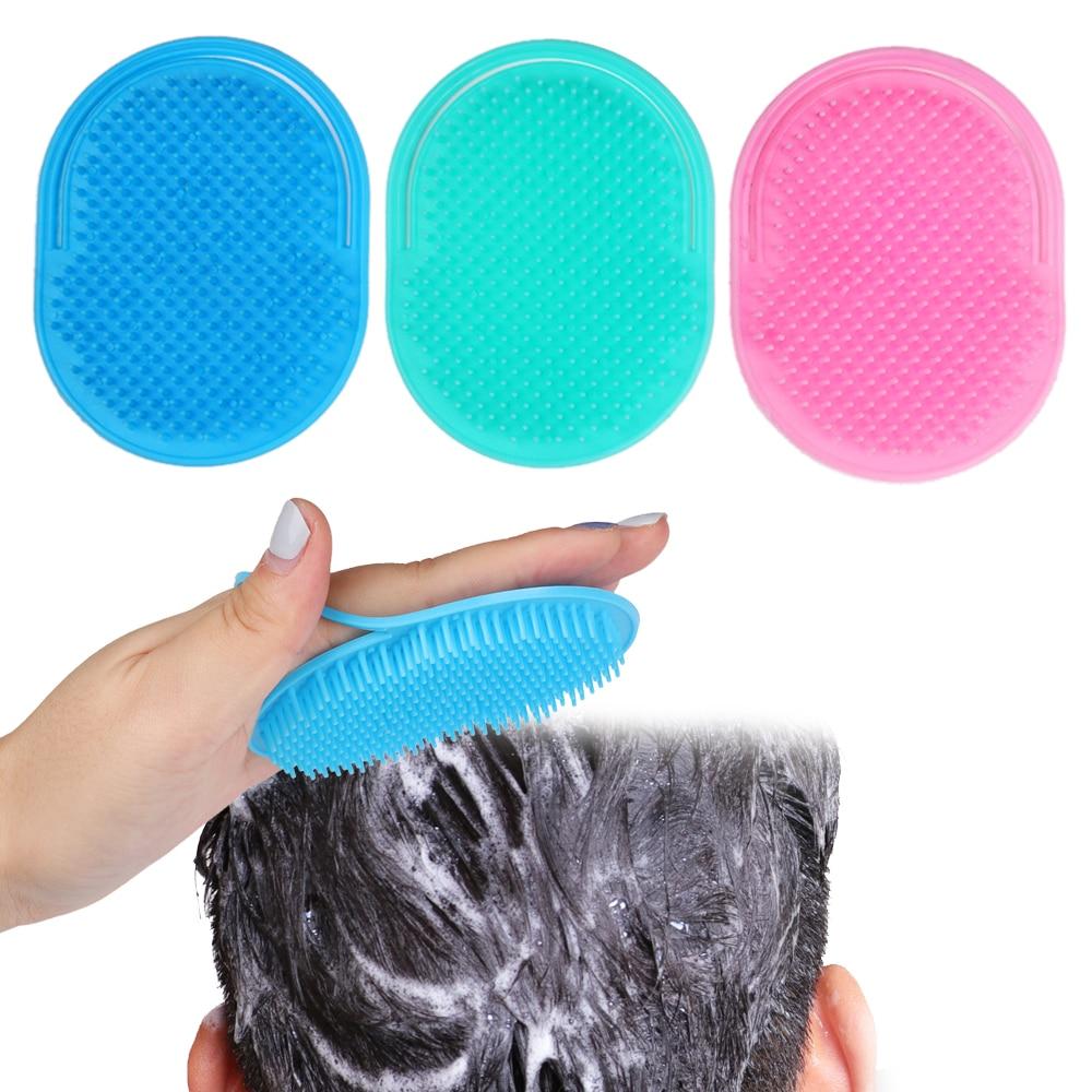 1pc Shampoo Comb Pocket Men Beard Mustache Palm Scalp Massage Women Hair Care Travel Portable Hair Comb Brush Styling Tools