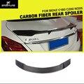 W205 R Carro-Estilo Fibra De Carbono Spoiler Traseiro para o Benz Classe C C180 C200 W205 4-Door Sedan 2015 Tronco lábio Asa