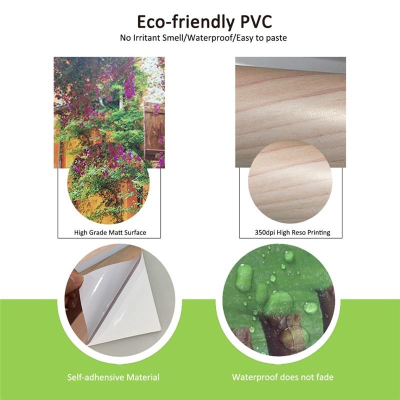2 개 / 대 방수 DIY 3D 벽 스티커 벽화 포스터 PVC 문 - 가정 장식 - 사진 6