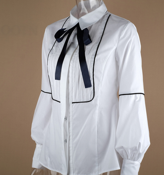 Office Bow Tie Blouse 1