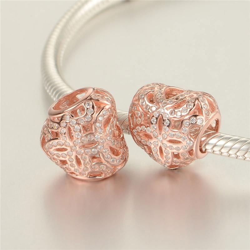 cheap rose gold pandora charms genuine