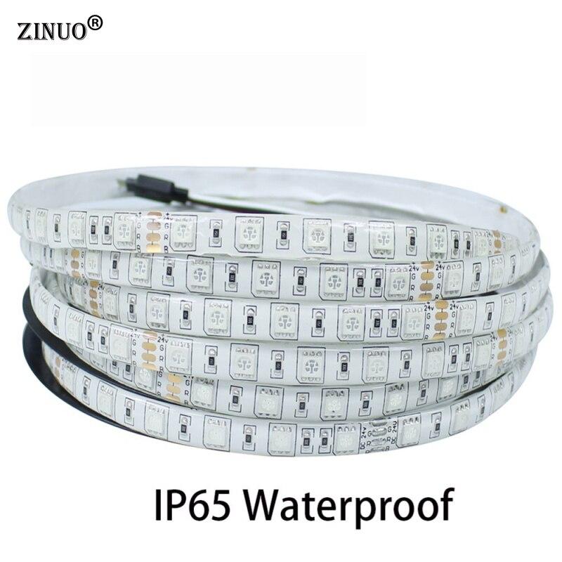 ZINUO 5 M Impermeabile Ha Condotto La Striscia 5050 300 Leds Flessibile LED Tape IP65 + 44 Chiave di IR Remote Controller RGB + 12 V 3A 36 W Adattatore di Alimentazione