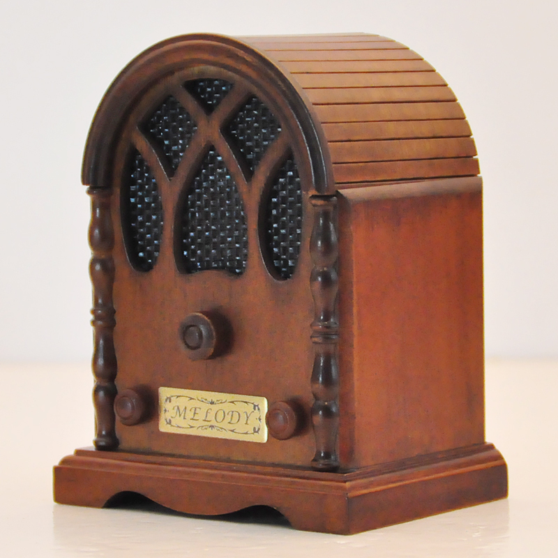 Vintage wood radio music box simulation model classic for Classic house radio