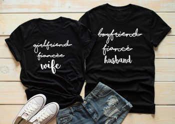 El día de la boda a juego parejas camiseta esposa para ser Camisetas marido para ser camisa despedida de soltera boda Tops juego de trajes