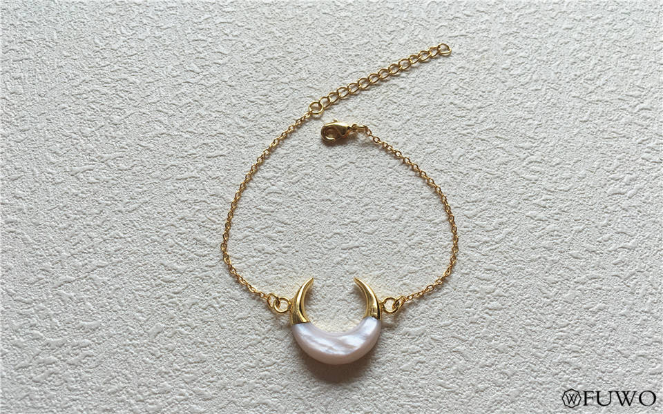 Crescent Moon Shell Bracelet 7
