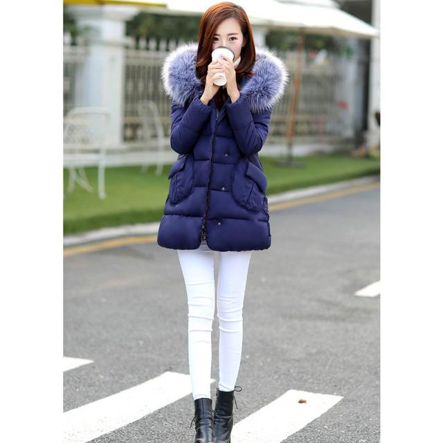 Nueva ropa de Maternidad llegada ropa de invierno de algodón acolchado chaqueta de moda top moda cálida chaqueta medio-largo más el tamaño