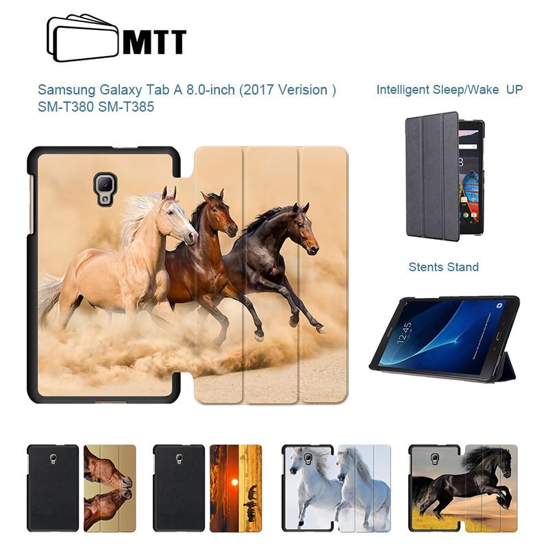 ff2e1966888 Cheap Ultra Slim magnético imprimir Akhal teke caballo caso para Samsung  Galaxy Tab A2 8,