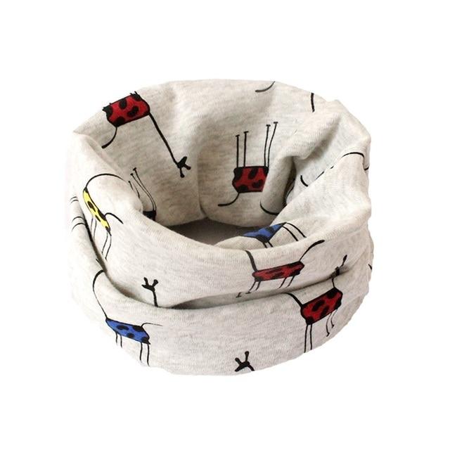 Осень милый детский шарф дети уплотнительное кольцо воротник с рисунком животных осень для маленьких мальчиков девочек Шарфы для женщин Одежда для малышей Интимные аксессуары
