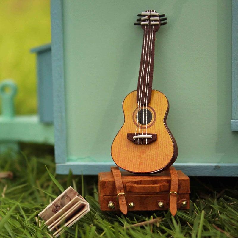Meubles Poupée DIY Maison Wodden Miniatura Maisons De Poupées Kit - Poupées et accessoires - Photo 6