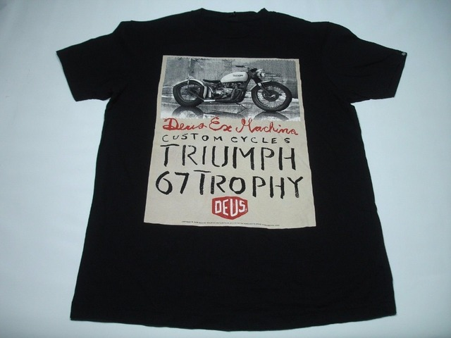 378c506bbe8 Custom T Shirt Design Men s Short Deus Ex Machina Triumph 67 Trophy Custom  Cycles Mens T-Shirt Black Summer O-Neck Tee Shirt