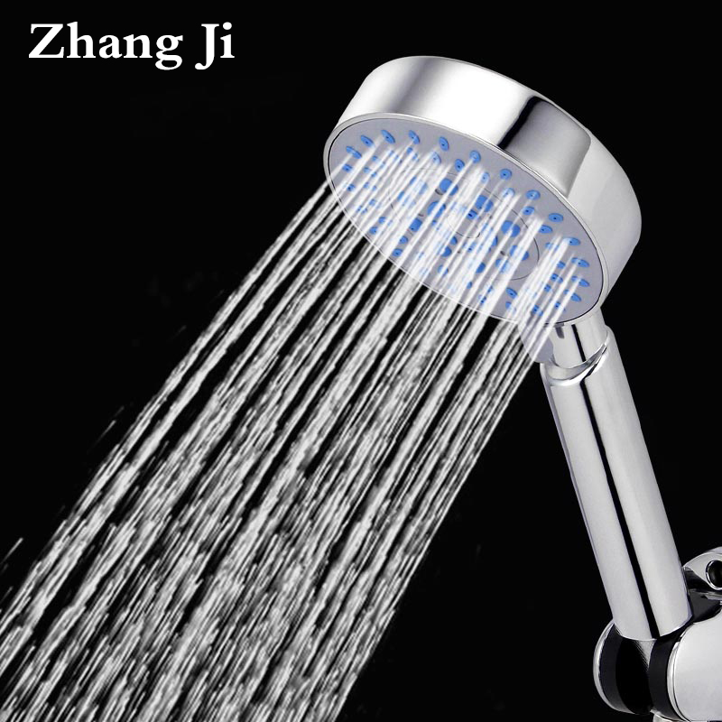 Zhang Ji Bathroom Adjustable 5 Multifunction Shower Head Water Saving High Power Boost Silica Gel Hole Rain Filter Shower head