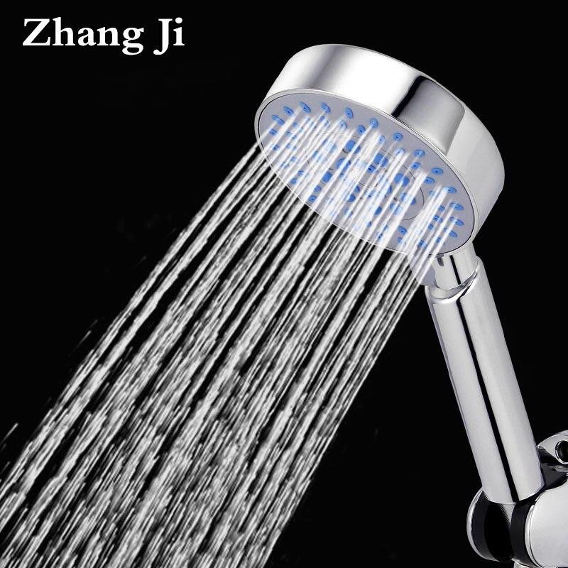 Zhang Ji Bathroom Adjustable 5 Multifunction Shower Head Water Saving High Power Boost Silica Gel Hole Rain Filter Shower head