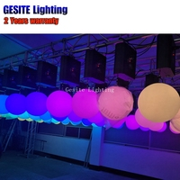 25CM Stage Wedding Decoration RGB Color Changing LED DMX LED lifting ball kinetic ball