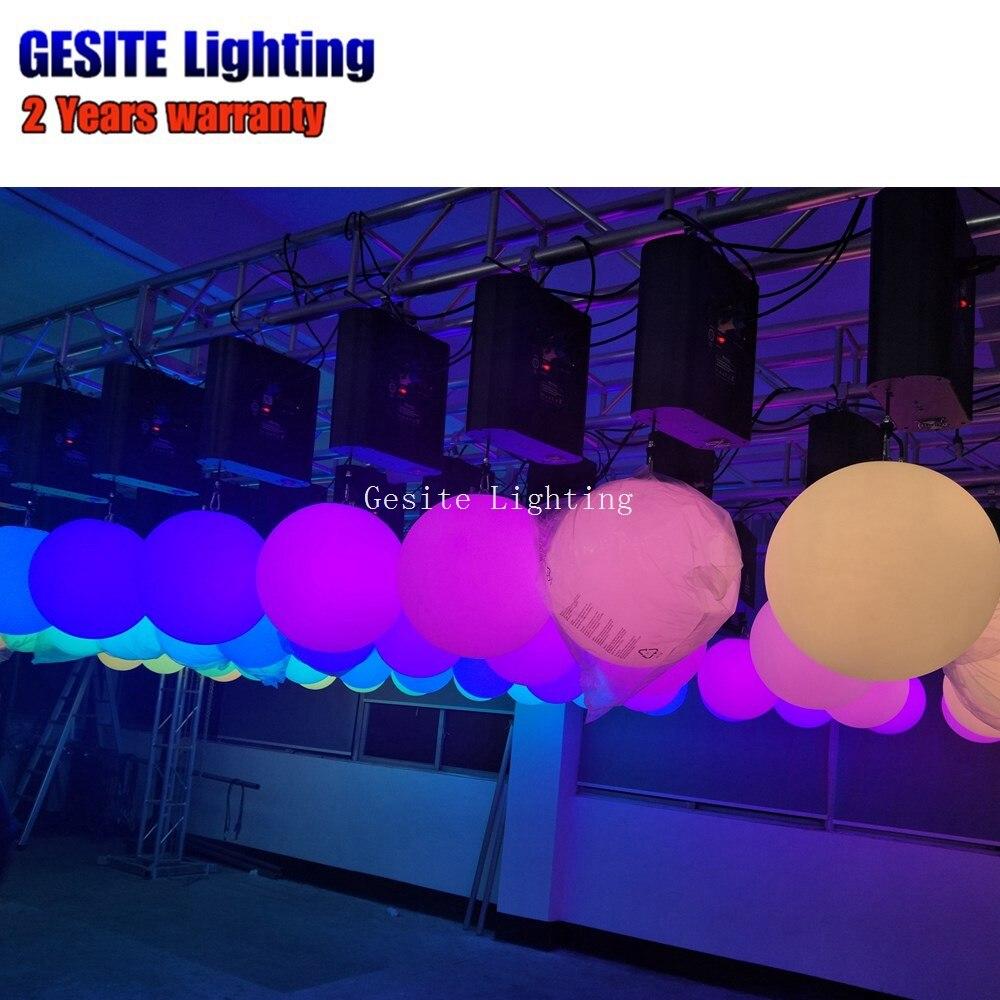 25CM Stage Wedding Decoration RGB Color Changing LED DMX LED lifting ball kinetic ball