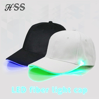 Flash LED Light Baseball Cap Summer Sunscreen Shade Cap Wild Casual Couple Glowing Cap
