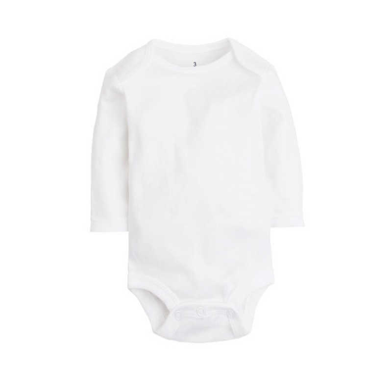 5 unids/lote ropa de bebé recién nacido 2018 Body de bebé 100% algodón blanco niños Monos Bebé niño niña ropa 0-24M