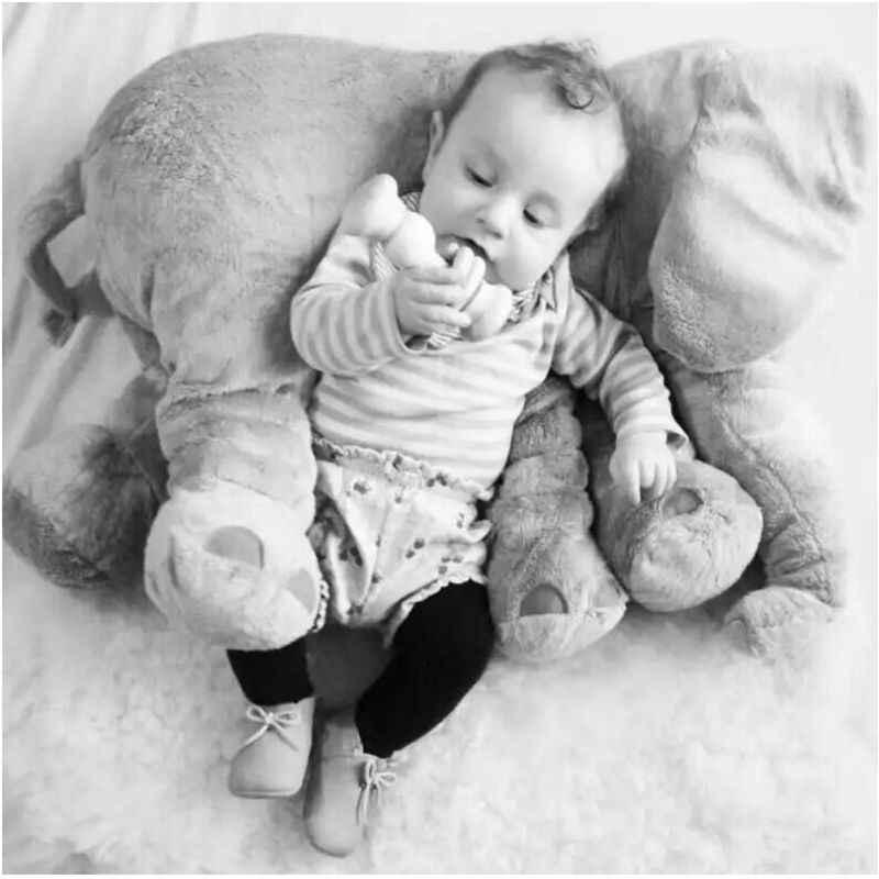 Fil Peluş Yastık Bebek Uyku Arka Yastık Bebek Fil Doldurulmuş Hayvan Oyuncak 60 CM dolma oyuncak fil Bebek bebek oyuncakları Hediyeler