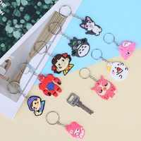 Moda 1 pçs bonito mix bonito dos desenhos animados chaveiro de silicone para as mulheres/homem chave capa chaveiro chaveiro chaveiro crianças presente