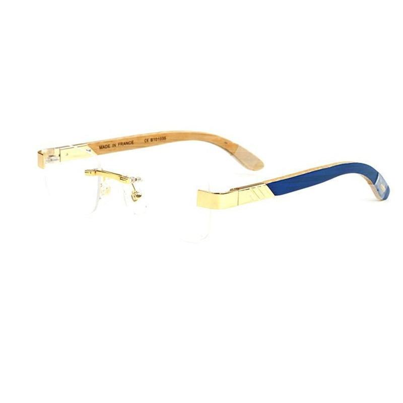 Qualität 1 Hohe Männer Rezept blau brown Objektiv Vazrobe Grün Blau Marke Gläser orange 1 Luxus 67 Brille Randlose rot Anti Licht Holz 61 Brillen xpqPzqv
