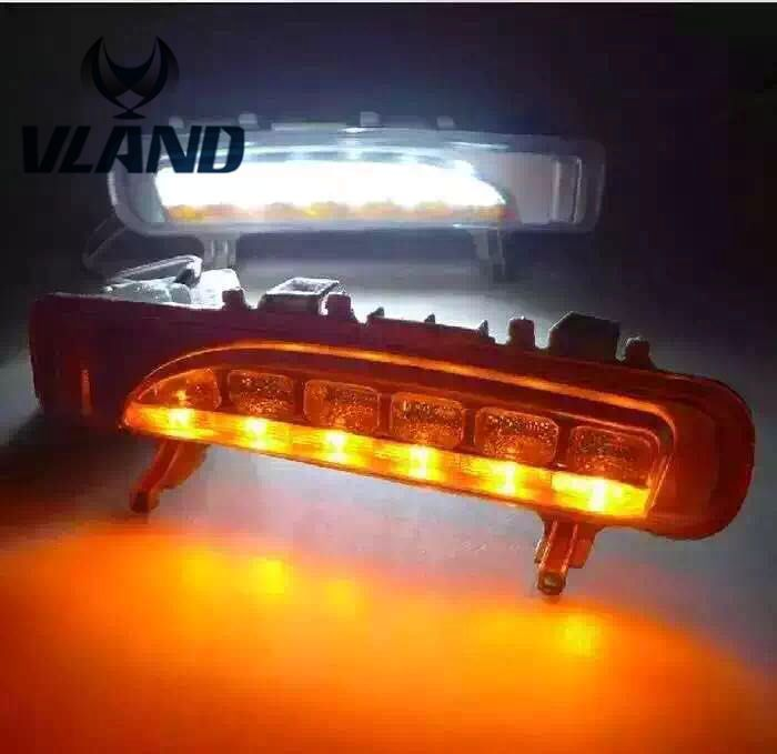 Free shipping vland factory for  Edge Daytime Running Light 2010 2011 2012 2015 LED High bright&Best Quality with turning light  free shipping vland factory for mitsubishis 2013 2014 2015 pajero sport drl led daytime running light with turn lights