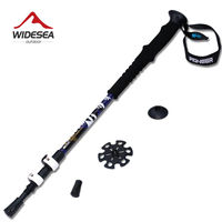 Free Shipping Ultra Light Adjustable Telescopic Antishock Aluminum Hiking Sticks Walking Pole Alpenstock For Hiking Trekking