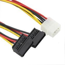 Nova 4pin ide molex para 2 serial ata sata y divisor disco rígido fonte de alimentação cable_kxl0804