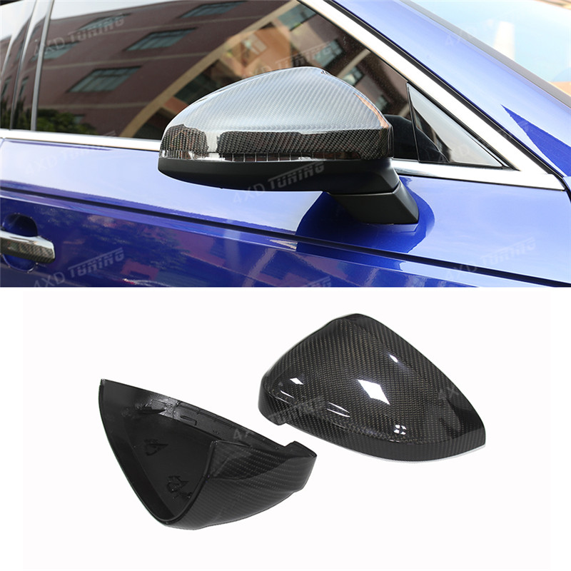 1:1 Replacement Style For Audi A4 B9 S4 A5 S5 dry Carbon Mirror A4 A5 S5 RS4 RS5 Carbon Fiber Rear View Side Mirror Cover 2016+ carbon fiber mirror cover for 07 09 audi a4 b8