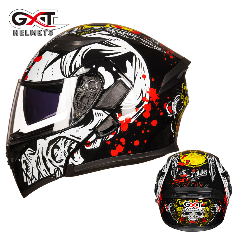 GXT Filp UP Helmet Motorcycle Dual Visor Smoke Inner Visor Hlemets Motorbike Riding Racing 4 Seasons Casque Casco Capacete