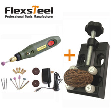 DIY Craft Mini Electric Engraving Chisel for Wood Cup Jewelry Engraving+Mini Walnut Vise Clamp Table Bench Vice