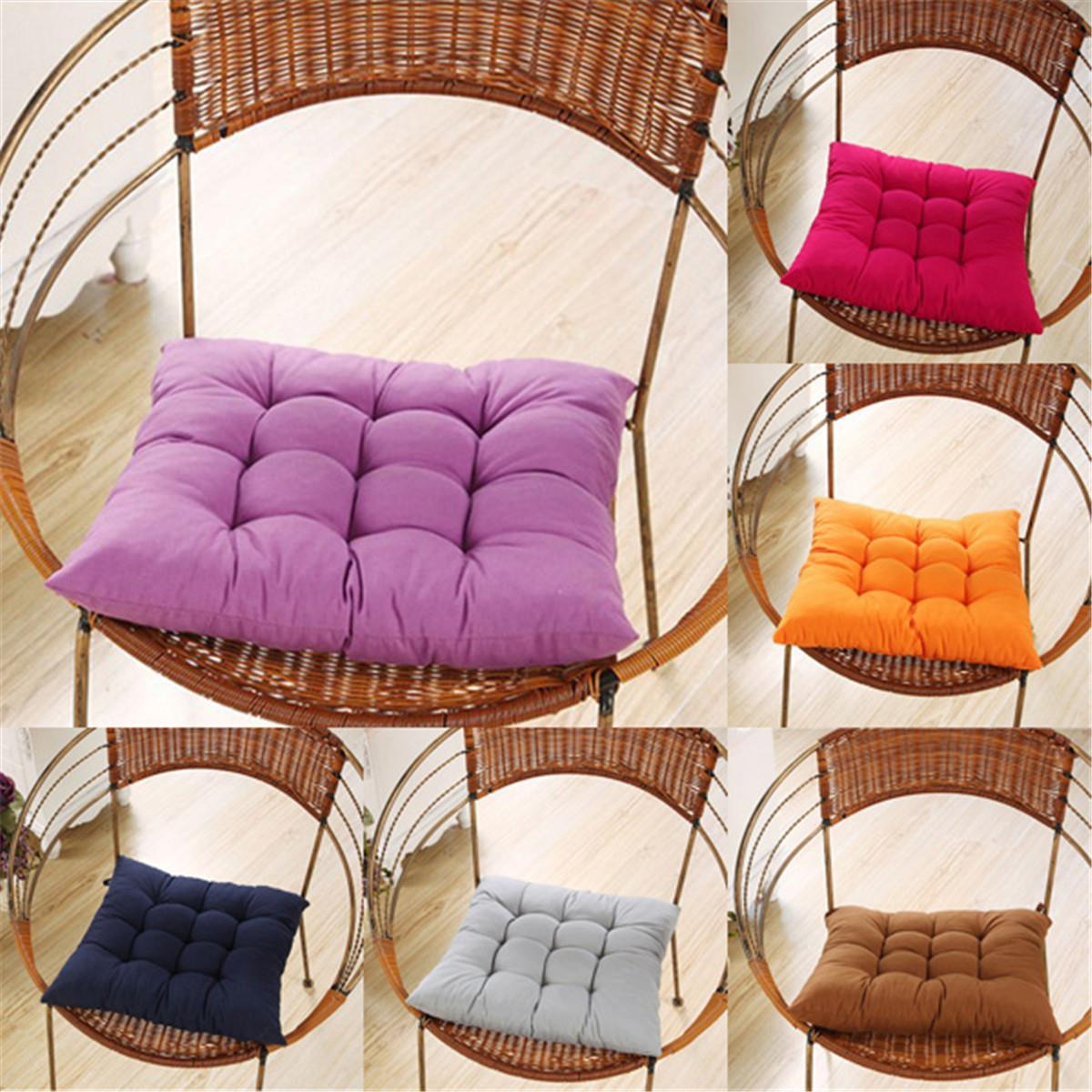 Candy Colors Garden Patio Seat Cushion Chair Pads Tie On Pad Buttock Mat Household Bedroom Office Decorative Crafts Accessories